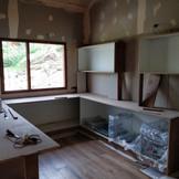 Kitchen wood work.