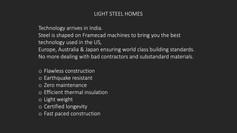 Light Steel Houses