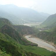 Kosi river cliffs & canyons.