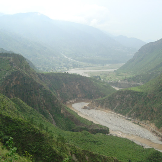 Kosi river cliffs & canyons.