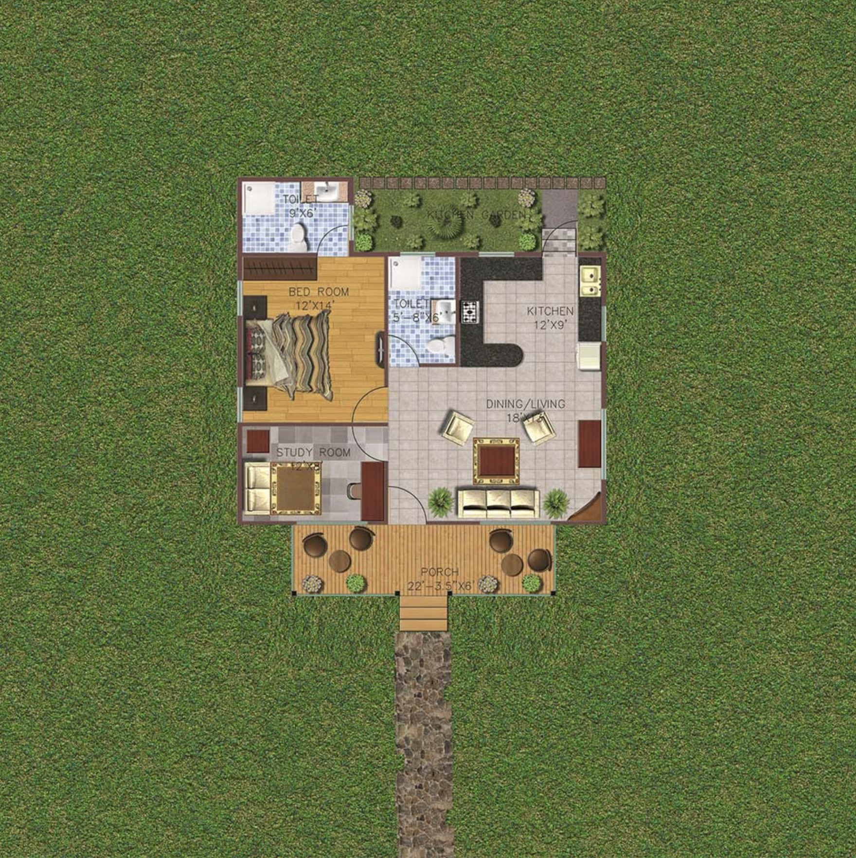 1 Bedroom 914 sq ft