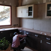 Kitchen takes shape.