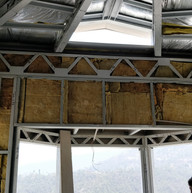 Insulating the walls.