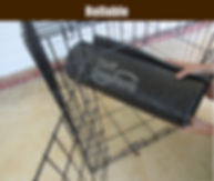 Dig proof dog mat for crates that is rollable and easy to intall or remove.