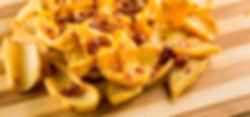 Batata Canoa com Cheddar e Bacon Crispy