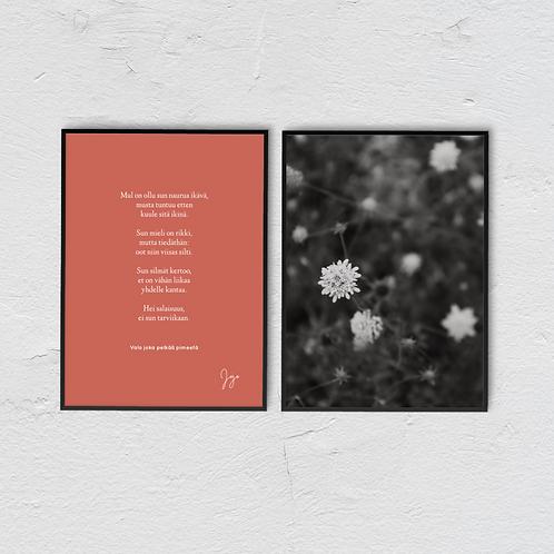 Valo joka pelkää pimeetä Poster Collection - JoJo x ByJessica