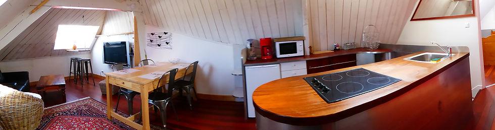 Belle ile Palais location studio appartement randonnées Logis du port