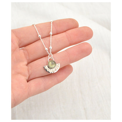 Labradorite Semicircle Necklace