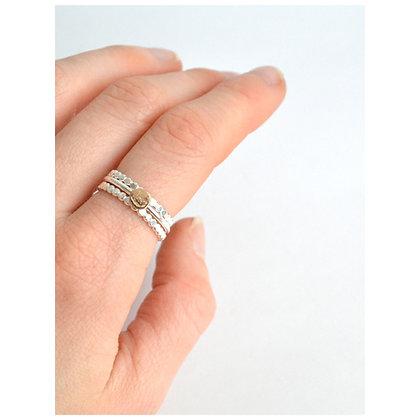 Gold Pebble Stacking Ring Set