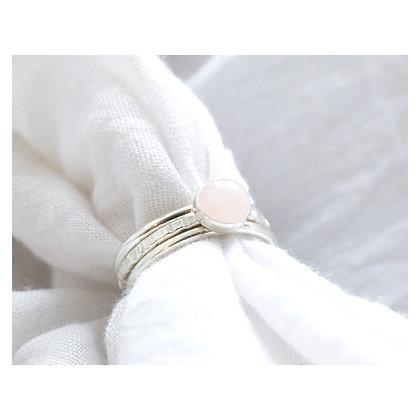 Rose Quartz Stacking Ring