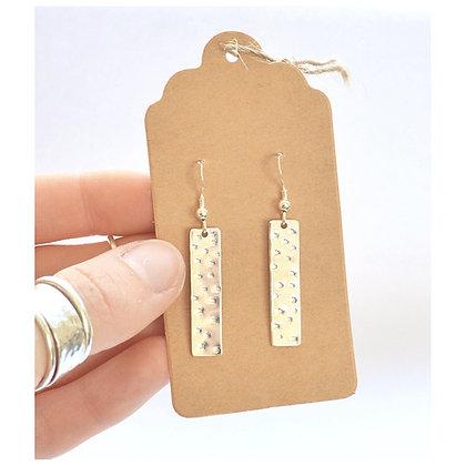 Dotty Stamped Drop Earrings