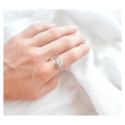 Pebble Heart Ring