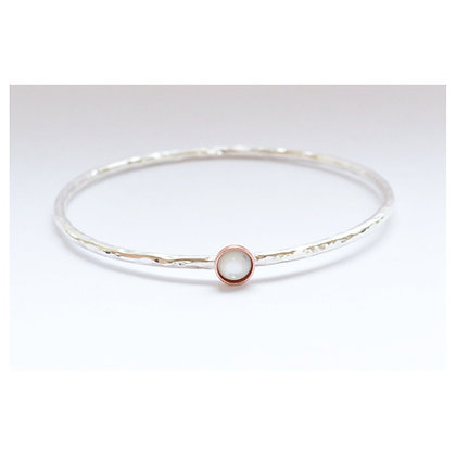 Copper and Mother of Pearl Bangle