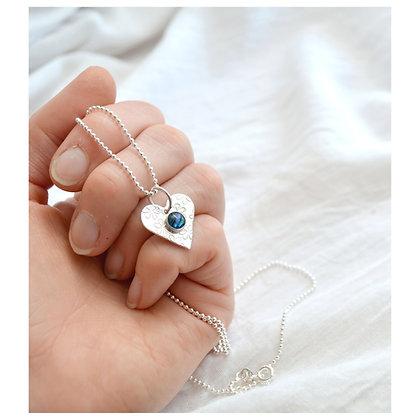 Paua Daisy Heart