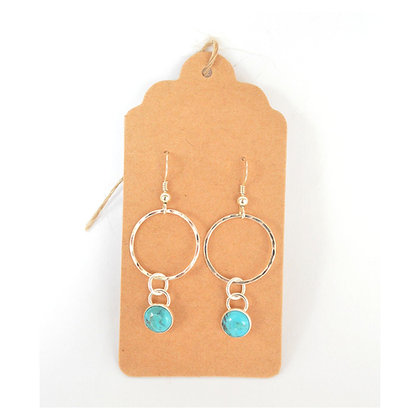 Circle with Turquoise drop