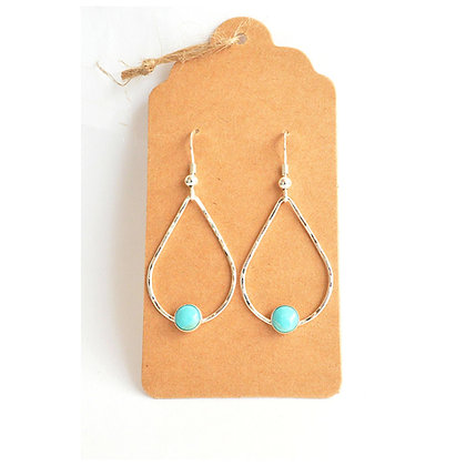 Turquoise Tear Drops