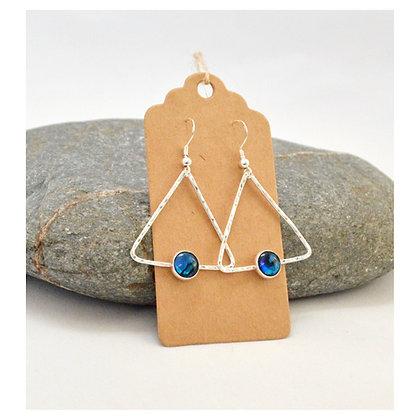 Paua Triangle Earrings