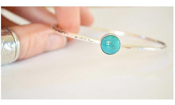 10 mm Chinese Turquoise Bangle
