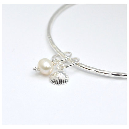 Pearl and Shell Bangle