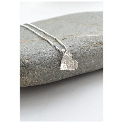 Daisy Heart Necklace