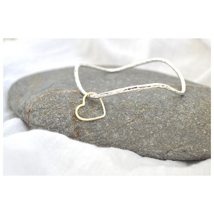 Porthleven Wave with 9ct Gold Heart
