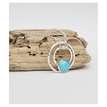 Double Circle Turquoise Necklace