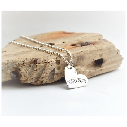 Lily of the Valley Heart Necklace