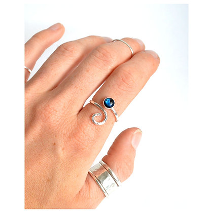 6mm Paua Adjustable Wave Ring
