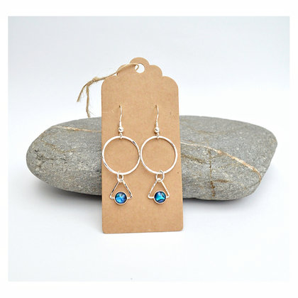 Hoop and Triangle Paua Earrings