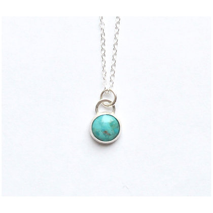 10 mm Turquoise Pendant Necklace