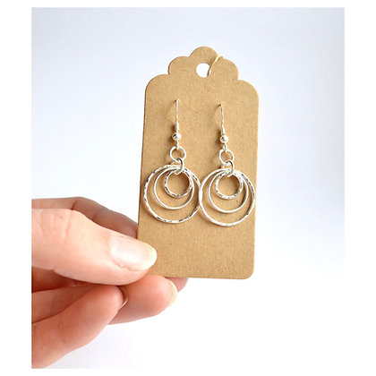 Triple Ring Earrings