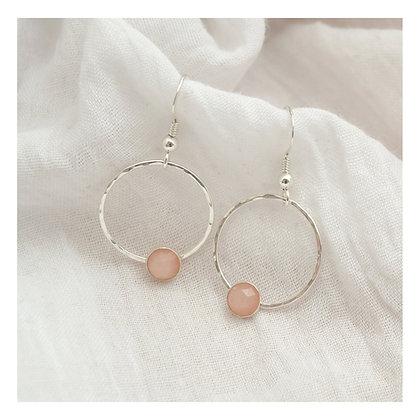 Peach Moonstone Beaten Circles