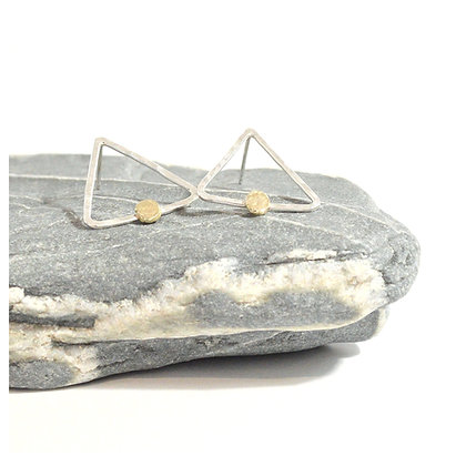 Geometric Studs with 9ct Gold