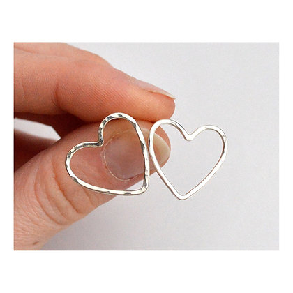 Open Wire Heart Studs