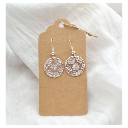 Mixed Flower Disc Earrings