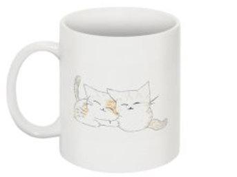 Cuddling Cats Mug