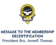 Decertification: Message to the Membership