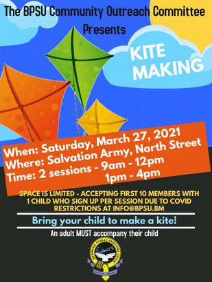 Kite Making with the BPSU Community Outreach Committee