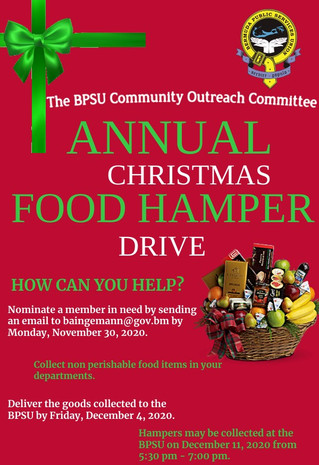 Annual Christmas Food Hamper Drive
