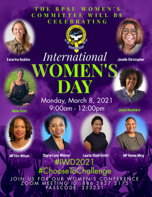 2021 International Women's Day (IWD) - #ChooseToChallenge