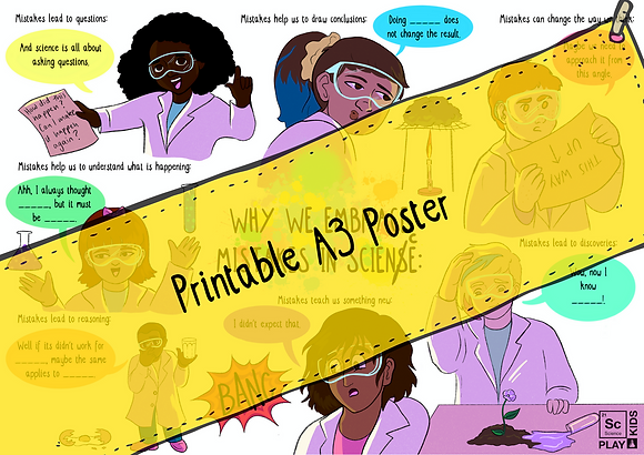 Printable A3 Poster - Why we embrace mistakes in science