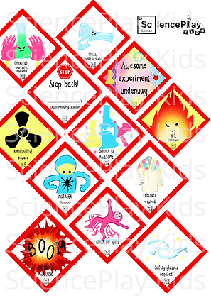 Science Safety Stickers Printable Colour