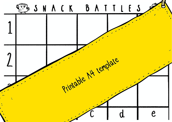 Printable A4 Snack Battles template