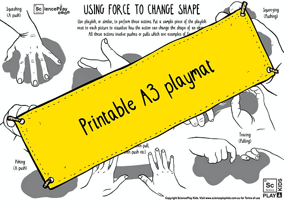 Forces Playdoh Play! Downloadable PDF A3 playmat