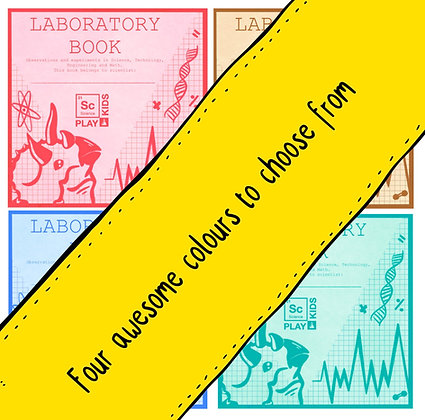 """""""Laboratory Book"""" Printable Sticker for science book - Free"""