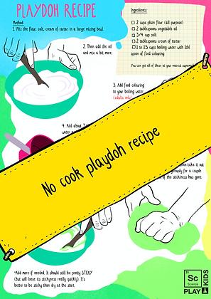 How to make no-cook playdoh