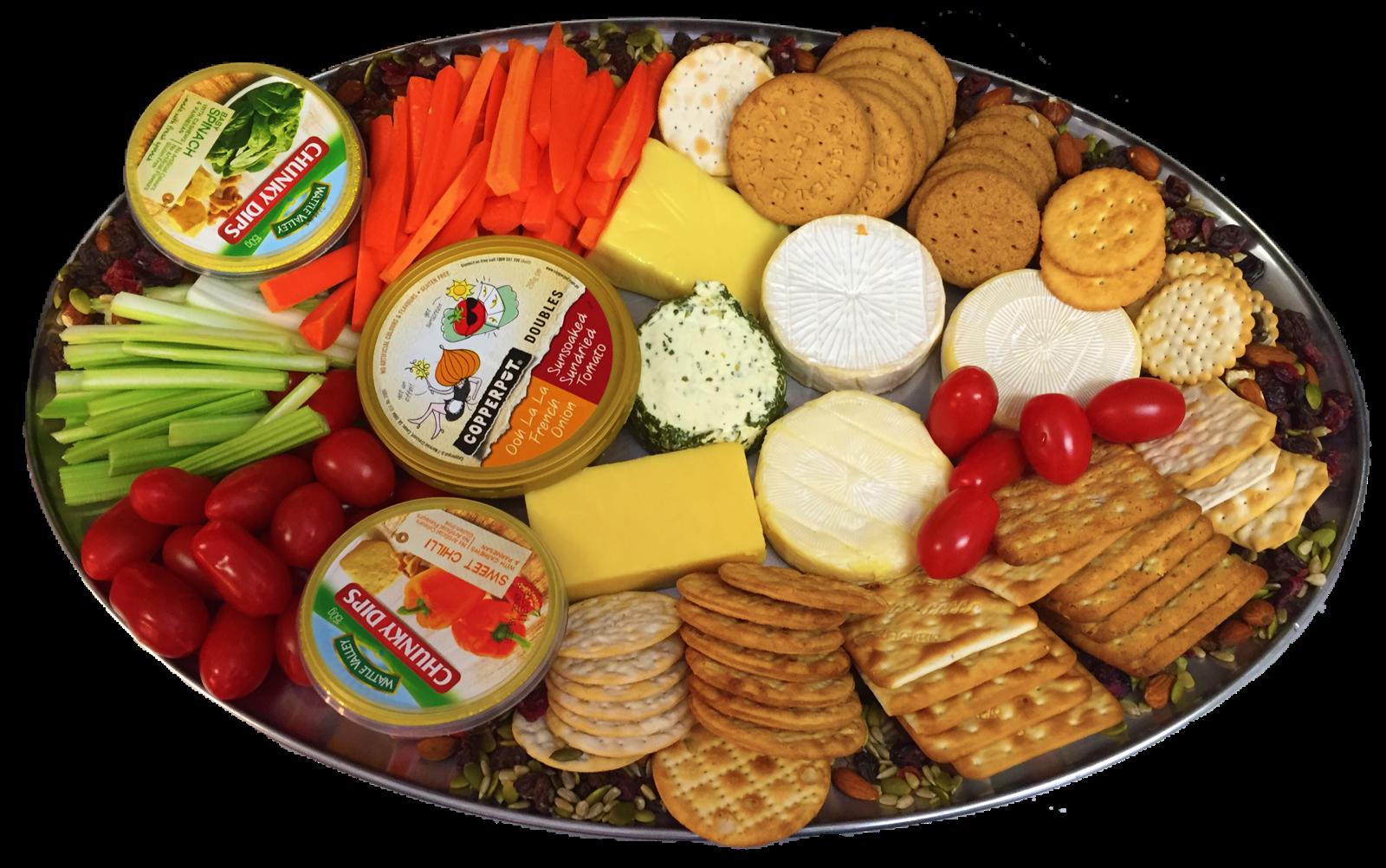 Cheese, Dip & Crackers