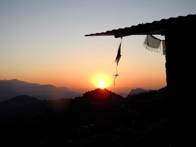 what's your mission? (prayer flags at sunrise)