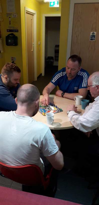 Enjoying board games and community at The Well