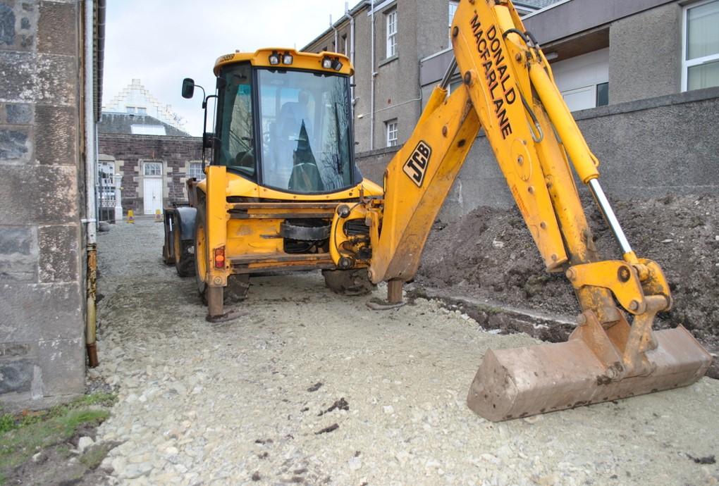 Ground being broken to start the construction